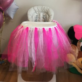 Праздничная юбка на стол и растяжка с днём рождени