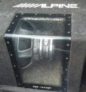 Пассивный Alpine+усилитель+конденсатор
