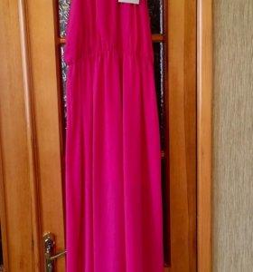 Летнее новое платье длинное