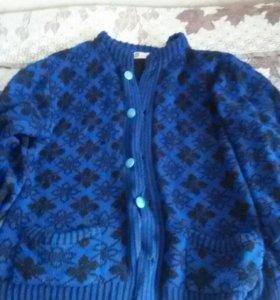 Кофта синяя
