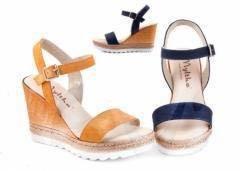 Босоножки (синий цвет) обувь из Испании