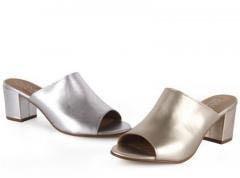 Сабо, Обувь из Испании, цвет золото