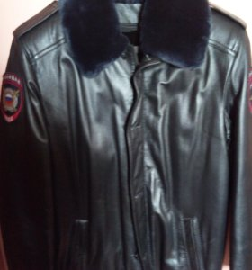 Куртка кожанная полиция