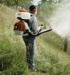 Обработка участков от комаров, клещей.