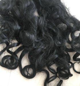 Продам чёрные искусственные волосы