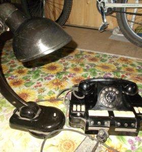 лампа НКВД + Селектор телефонный