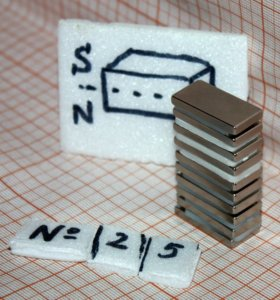 Неодимовый магнит прямоугольник 25*12*3 мм
