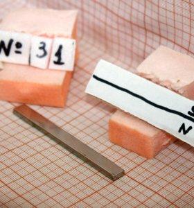 Неодимовый прямоугольный магнит 76*3*8 мм
