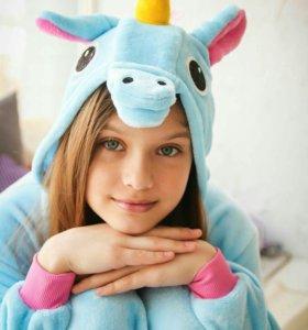 Пижама Киругуми Голубой единорог