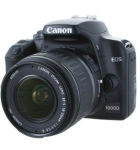 Фотоаппарат зеркальный Canon EOS 1000D 18-55 Black