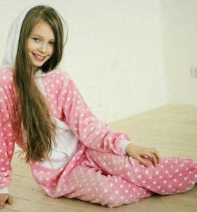 Пижама Кигуруми Hello Kitty в горошек
