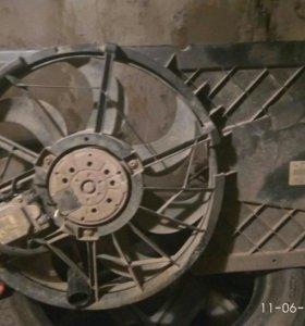 Вентилятор и диффузор форд С-MAX
