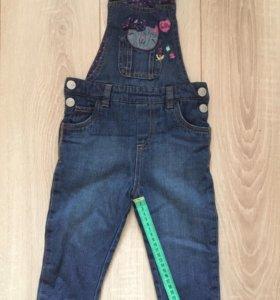 Новый джинсовый комбинезон Mothercare (12-18 мес)