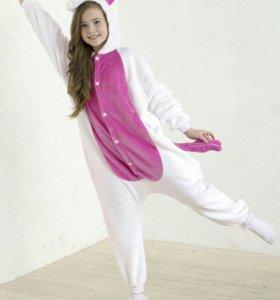 Пижама Кигуруми Бело-розовый единорог