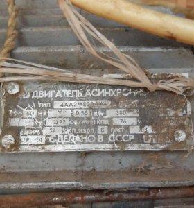 Двигатель асинхронный тип 4АА2М80АУ3