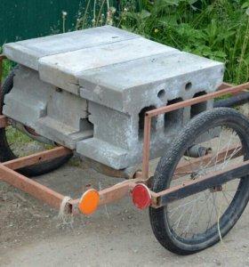 Большая ручная велосипедная тележка .