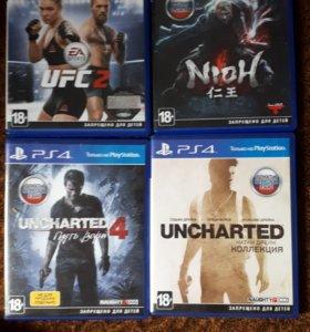 Продам PS 4 Slim на гарантии и комлект данных игр