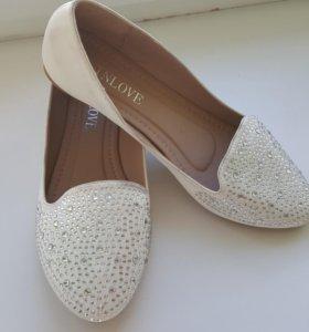 Новые!Свадебные балетки/туфли
