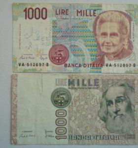 Италия 2 банкноты