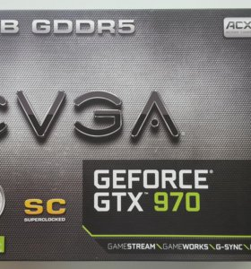 EVGA GEFORCE GTX 970 4GB Superclocked 256mb