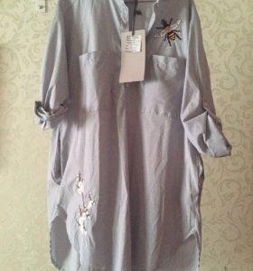 Модная платье рубашка новая !