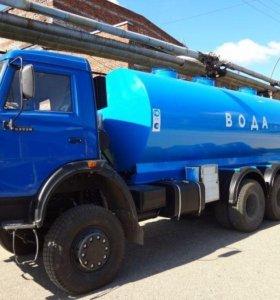 Доставка воды водовозкой