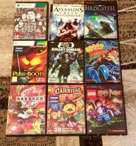 Игровые диски на Xbox 360 и Kinect