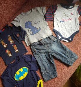 Пакет одежды на 6 -9 месяцев, 11 вещей
