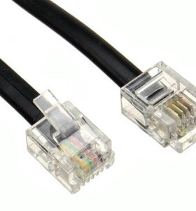 Удлинители телефонные RJ11 (RJ14) 1.8м и 3м
