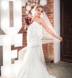 """Уникальное свадебное платье """"Рыбка"""""""