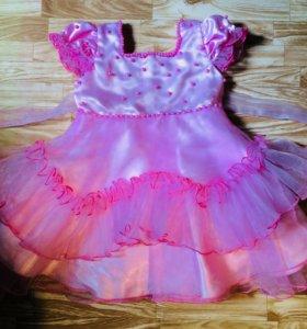 Платье для девочки нарядное на 1-2года