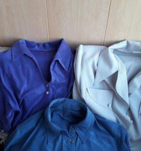 Блузки-рубашки женские 50-52р.