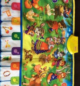 Музыкальный сенсорный коврик для малыша Азбукварик