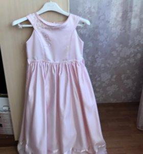 Платье с накидкой болеро одето один раз