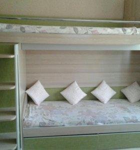 """Детская двухьярусная кровать"""" КИВИ"""""""