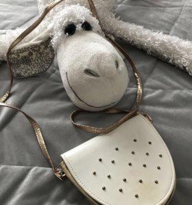 Детская белая золотая сумочка (подойдёт и взрослым