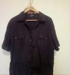 Стильная льняная рубашка 52 размер