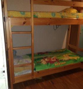 Двухъярусные кровать