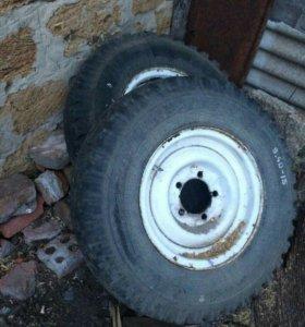 Колеса с дисками на УАЗ