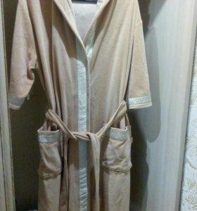 Велюровый домашний халат