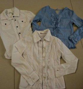 Блузки школьные пакетом р122-128