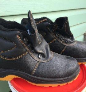 Ботинки утеплённые кожаные юфть р.44 НОВЫЕ