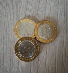 Монеты биметалл, разные, цена от 55 до 100 рублей