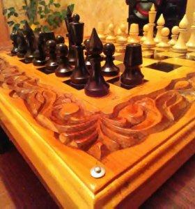 Шахматы÷нарды  ручная лагерная работа