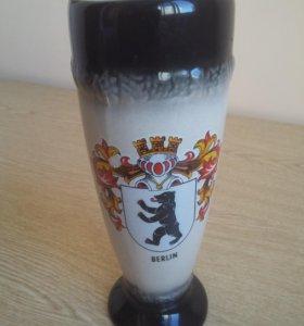 Пивной бокал с гербом Берлина подарочный