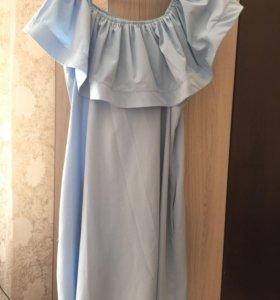 Платье с воланами рр 46-48