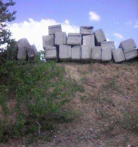 Блоки фундаментные ФБС-4(21штук),ФБС-5(7штук)