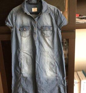 Платье джинсовое для беременных