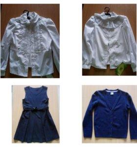 Новая школьная блузка 140