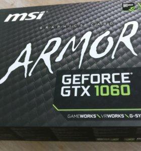 Видео карта Geforce GTX 1060 MSi Armor OC